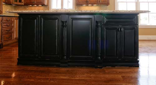 custom black kitchen cabinets photo - 10