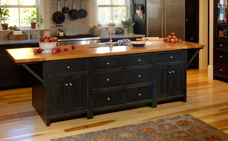 custom black kitchen cabinets photo - 3