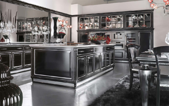 custom black kitchen cabinets photo - 7