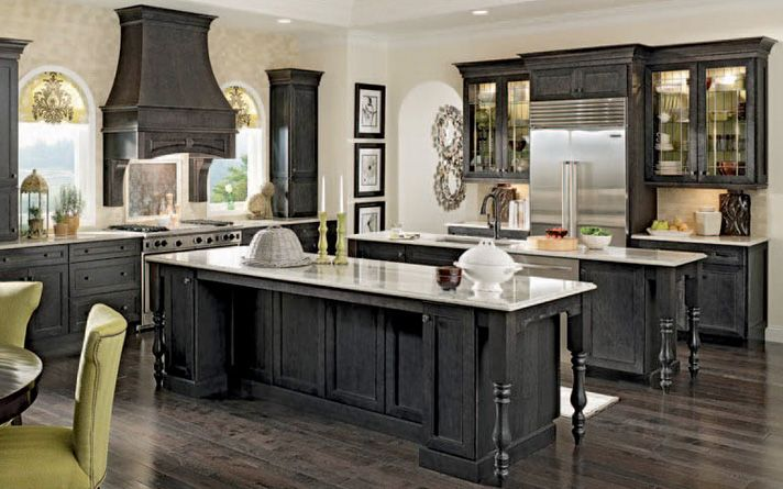custom black kitchen cabinets photo - 8