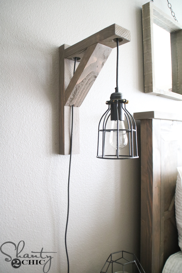 diy bedroom lamp photo - 3