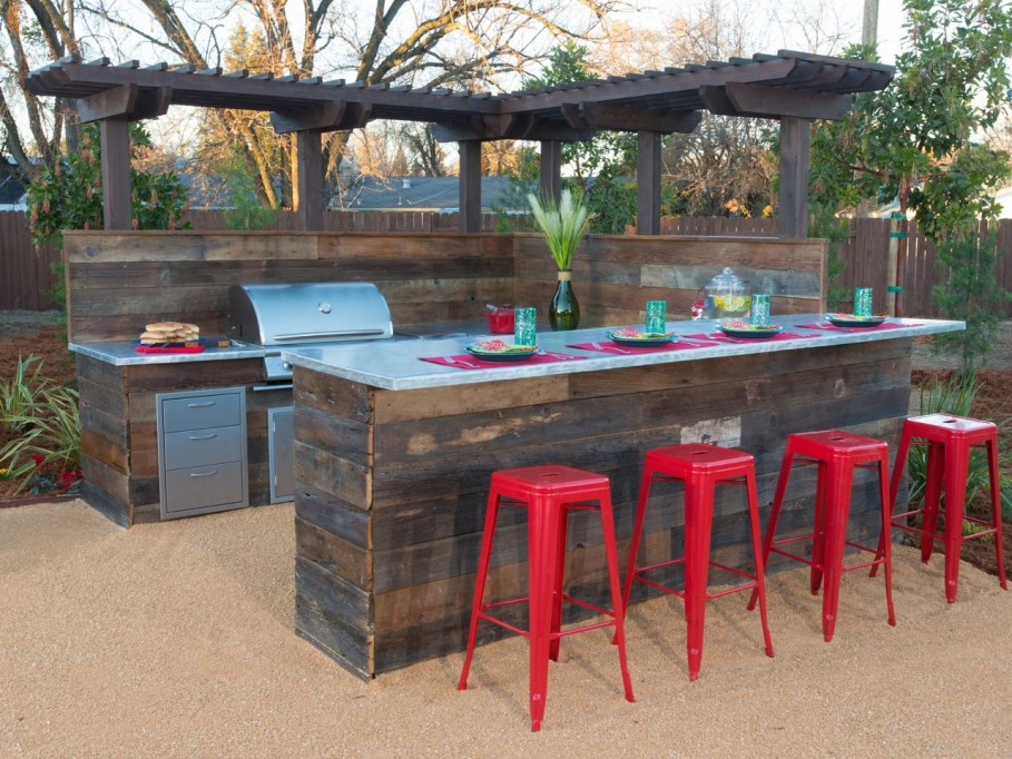 diy outdoor bar designs photo - 4