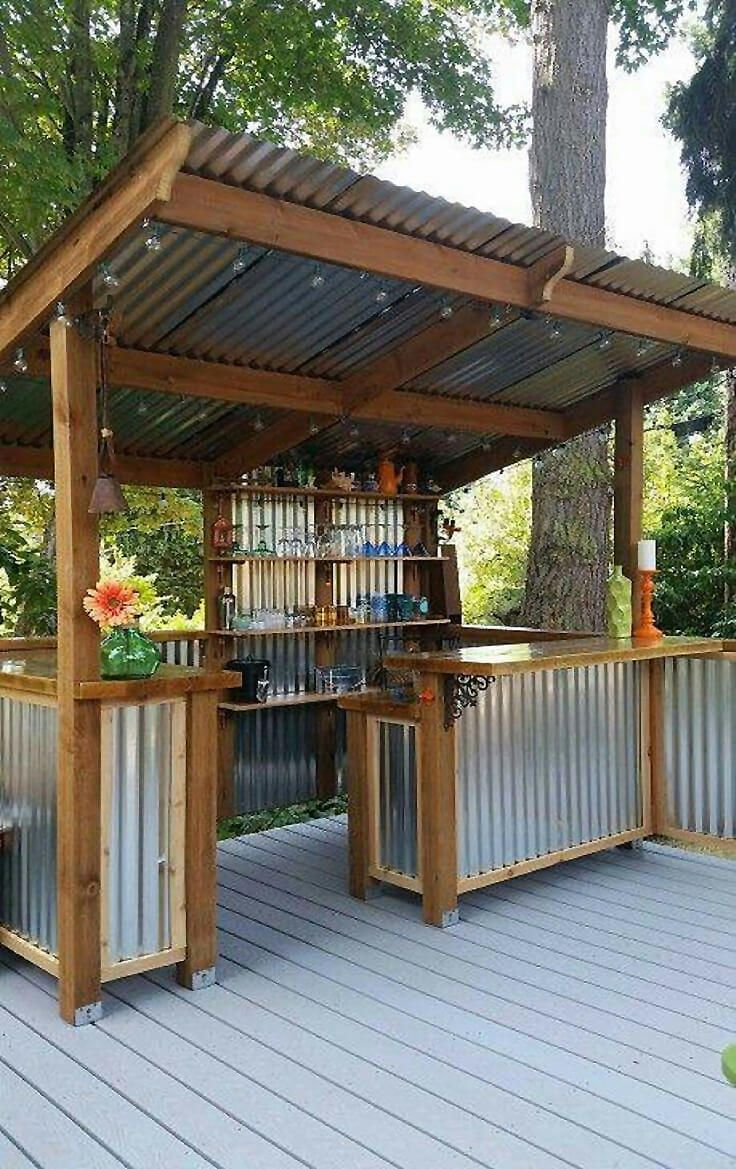 diy outdoor bar designs photo - 7