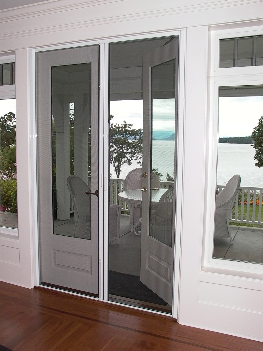 double french doors with screens photo - 3