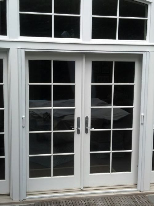 double french doors with screens photo - 5