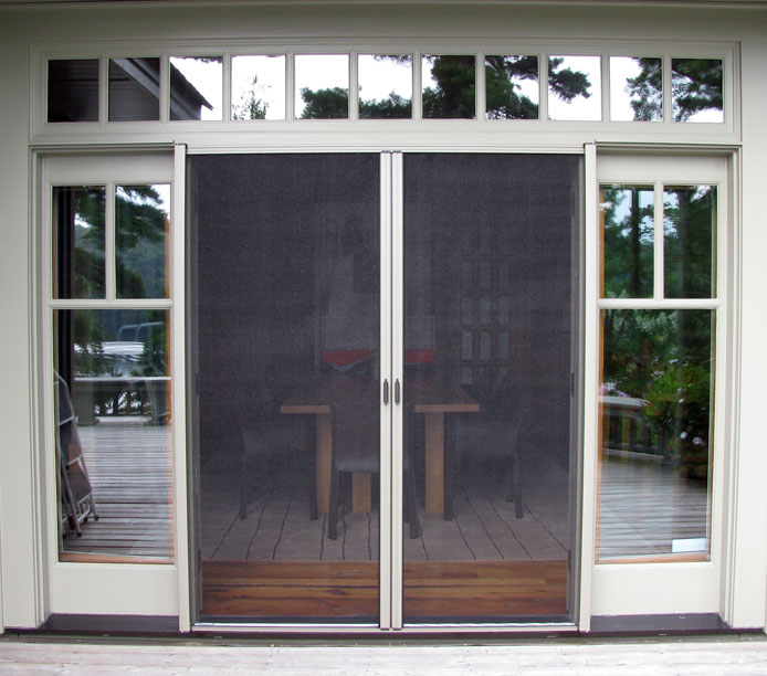 double french doors with screens photo - 8