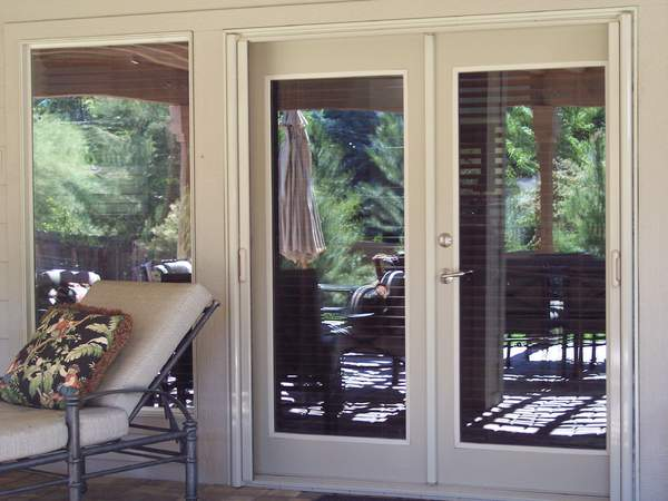 double french doors with screens photo - 9