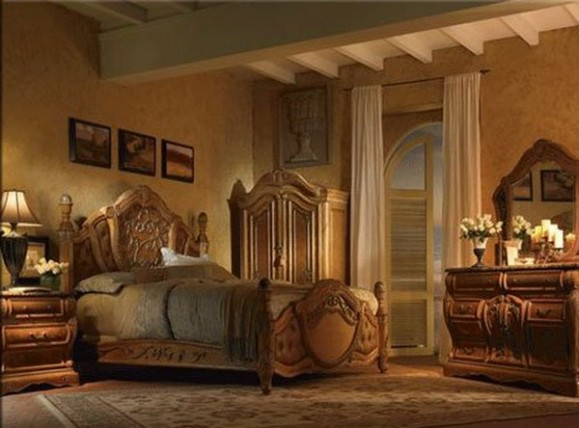 elegant traditional bedroom furniture photo - 1