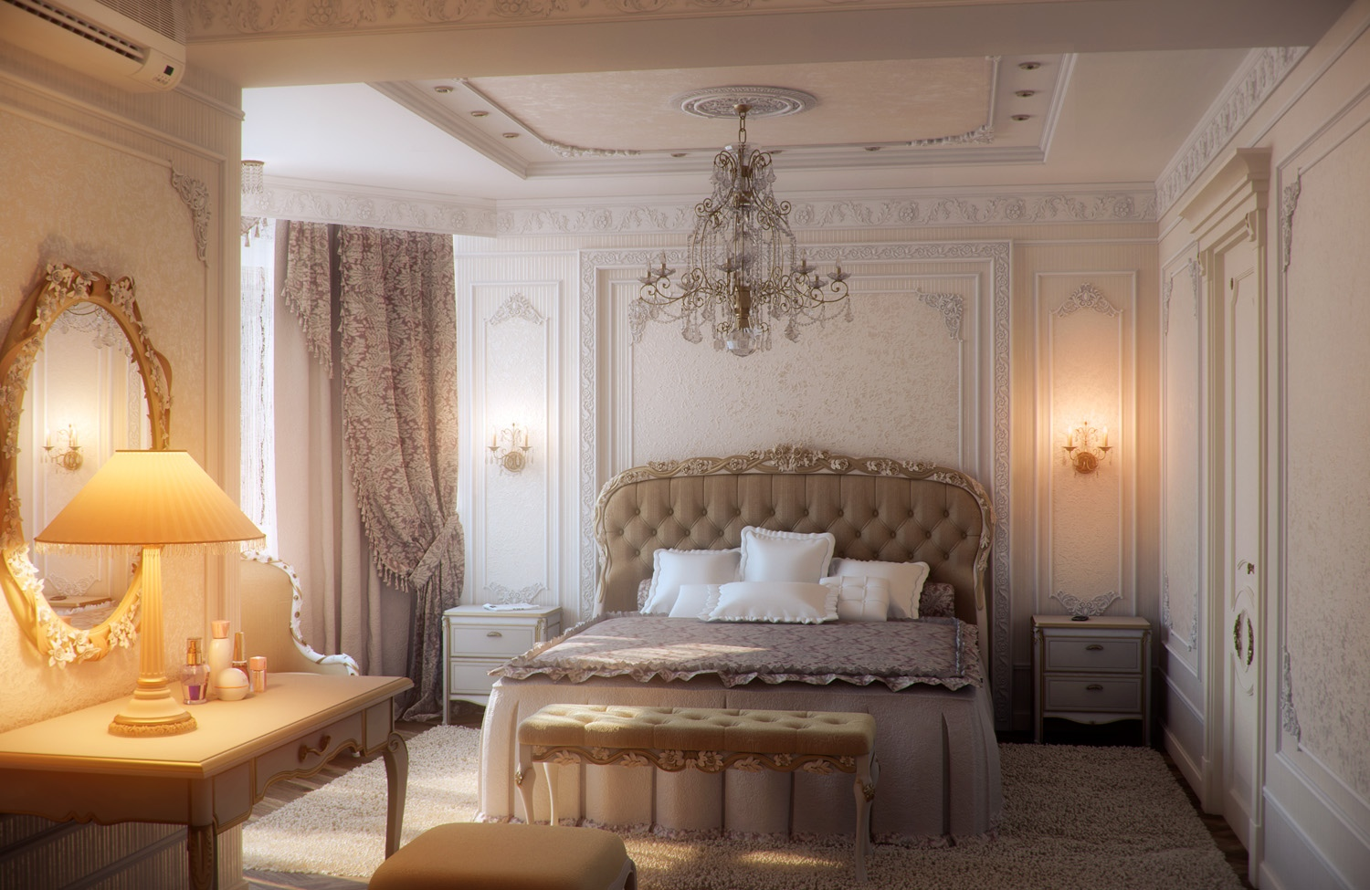 elegant traditional bedroom furniture photo - 10
