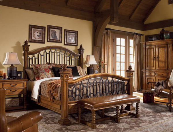 elegant traditional bedroom furniture photo - 4