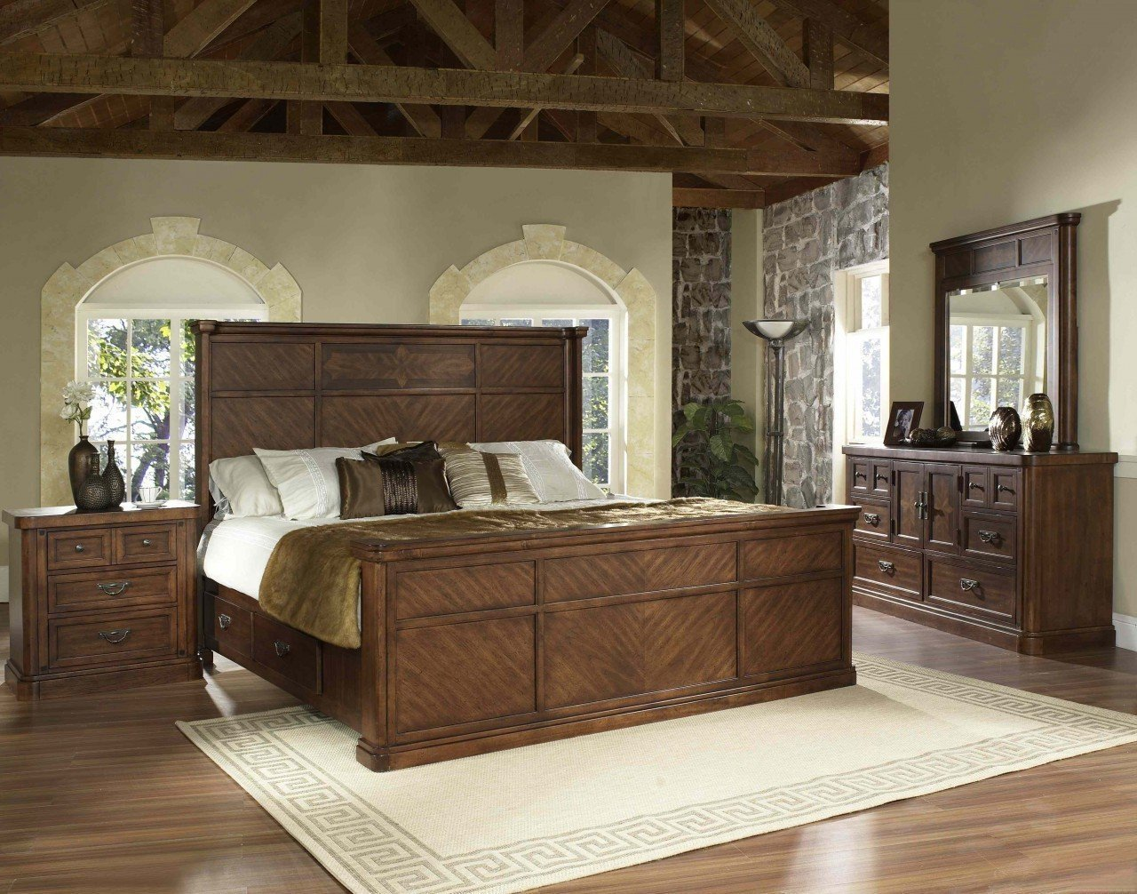 elegant traditional bedroom furniture photo - 9