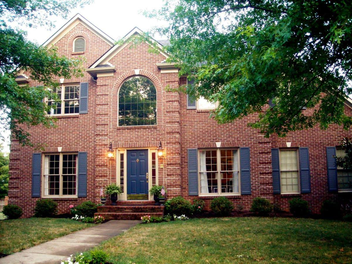 exterior paint colors brick photo - 4