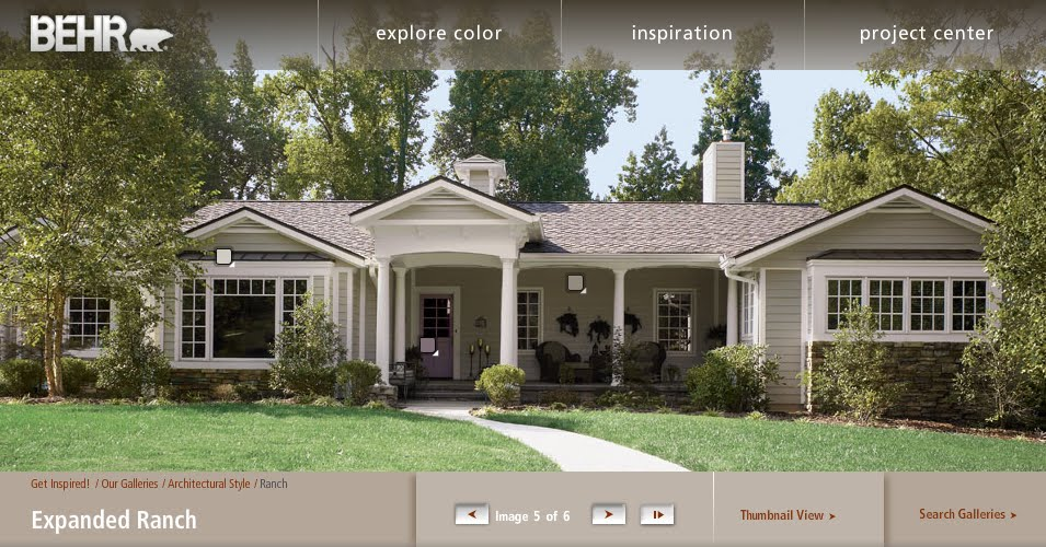 exterior paint colors ranch house photo - 3