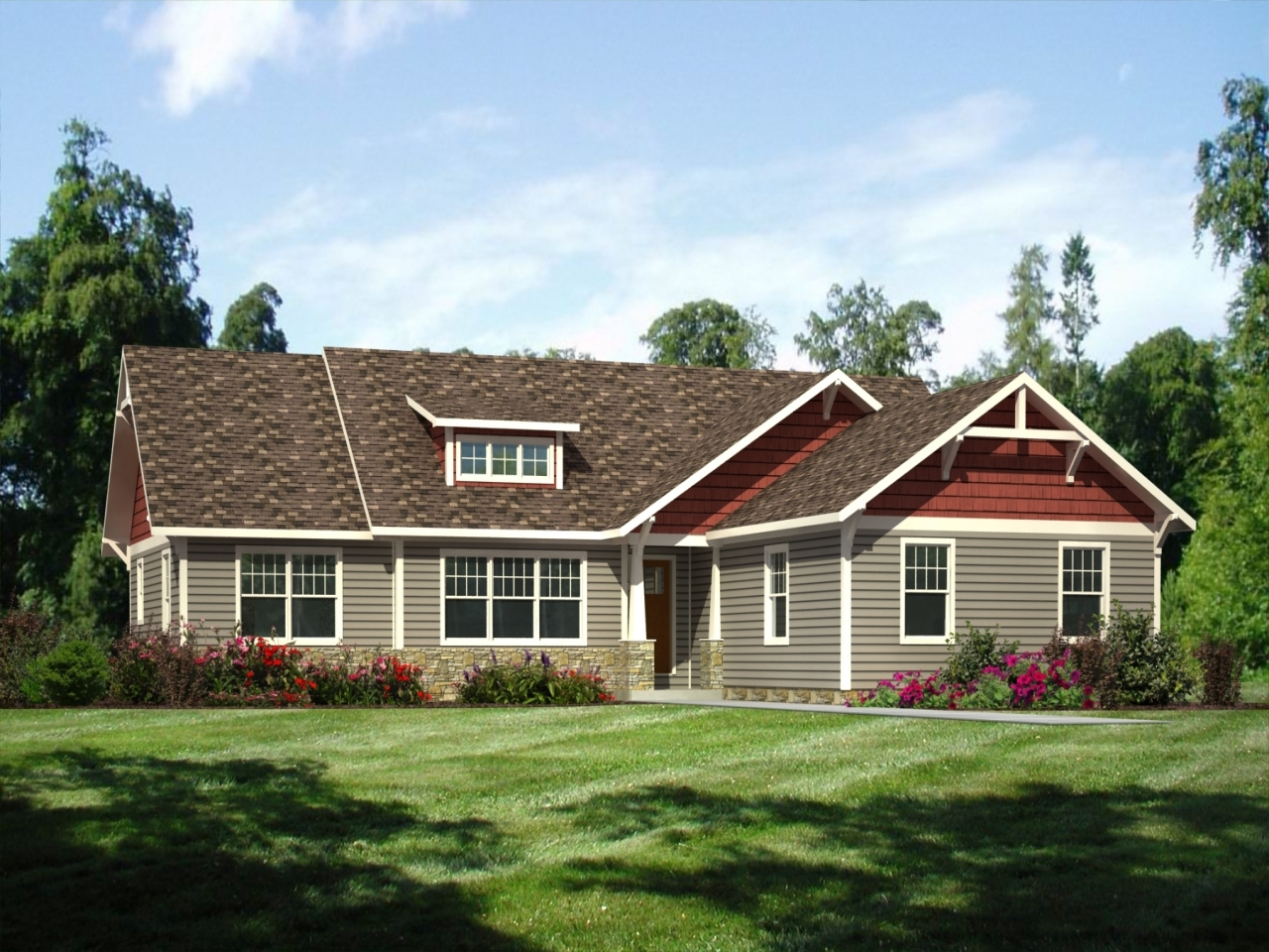exterior paint colors ranch house photo - 5
