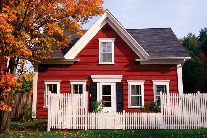 exterior paint colors red photo - 1