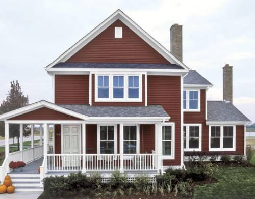 exterior paint colors red photo - 2