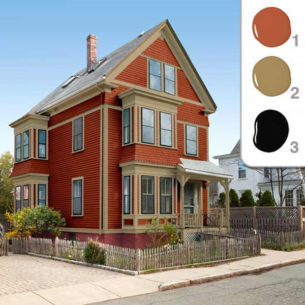 exterior paint colors red photo - 3