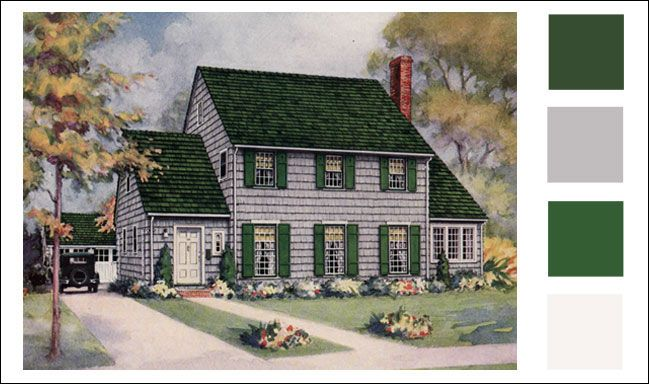 exterior paint colors vintage photo - 10