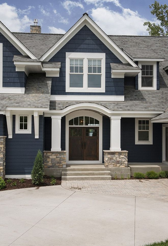 exterior paint colors with stone photo - 10