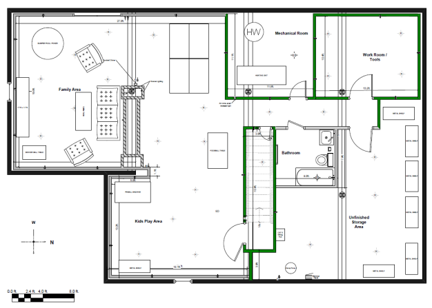 finished basement plans ideas photo - 1
