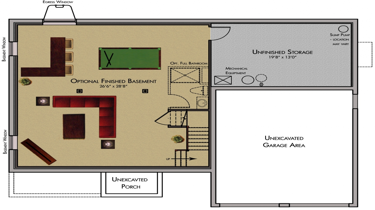 finished basement plans ideas photo - 2
