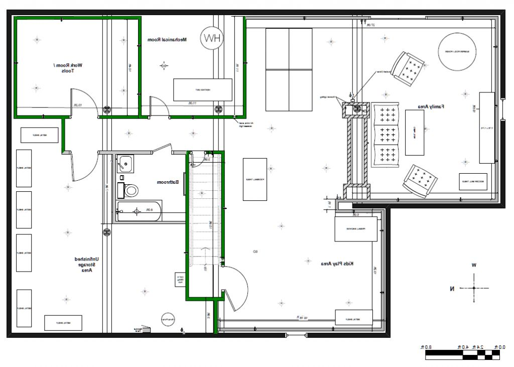 finished basement plans ideas photo - 7