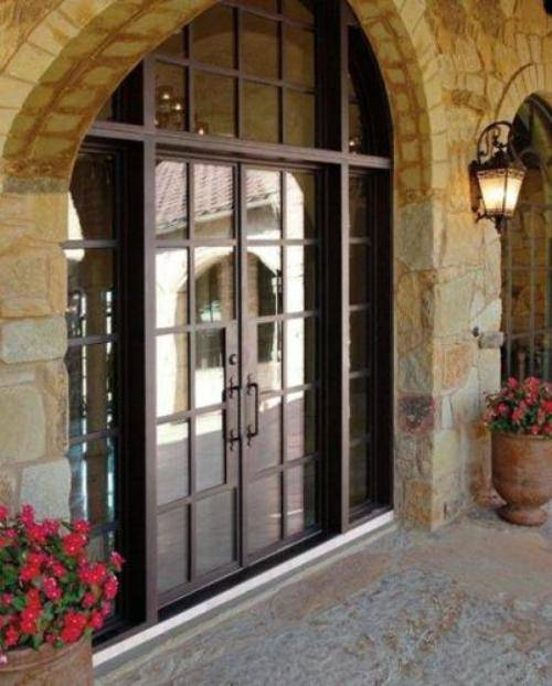 french country double entry doors photo - 6