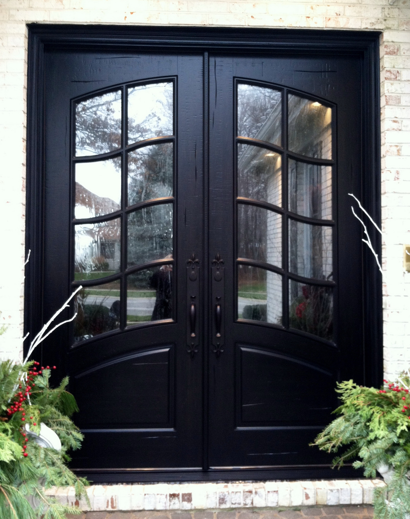 french country double entry doors photo - 7