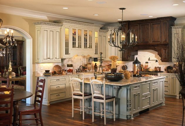 french country gourmet kitchen photo - 2
