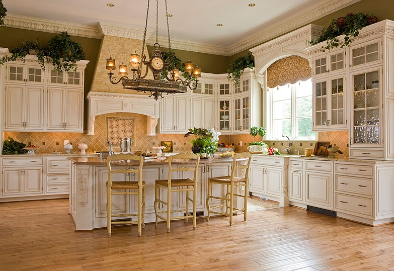 french country gourmet kitchen photo - 3