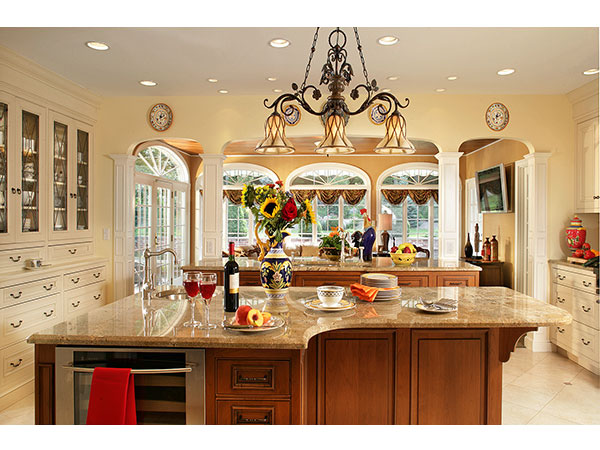 french country gourmet kitchen photo - 7