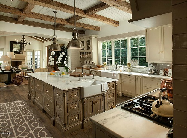 french country gourmet kitchen photo - 8