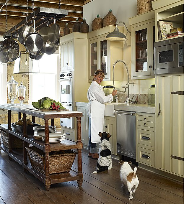 french country gourmet kitchen photo - 9