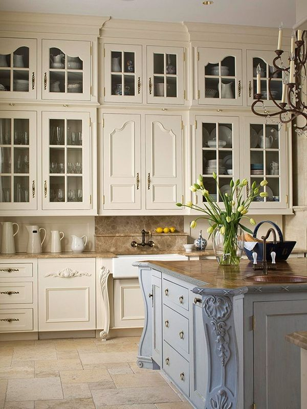 french country kitchen cabinets photo - 5