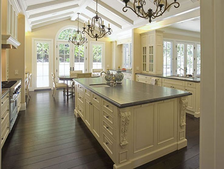 french country kitchen cabinets design photo - 10