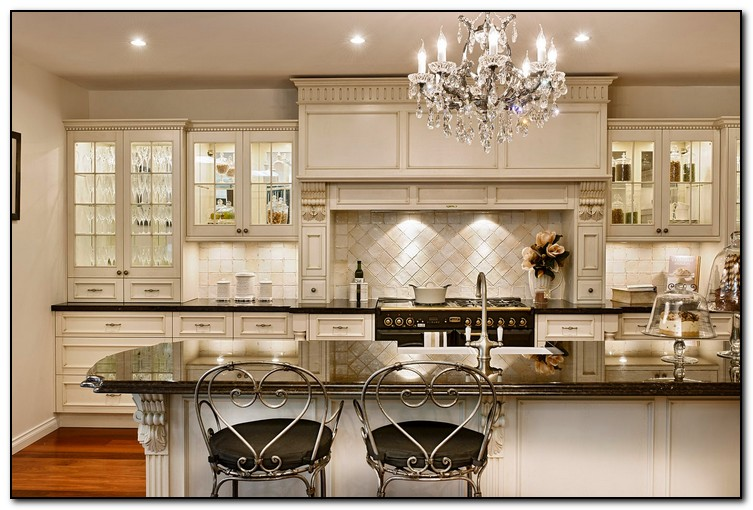 french country kitchen cabinets design photo - 7
