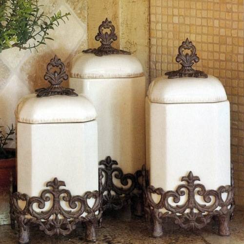 french country kitchen canisters photo - 2