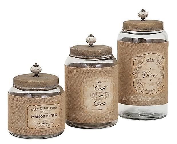 french country kitchen canisters photo - 3