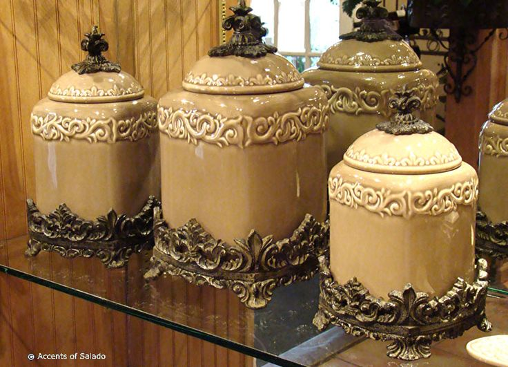 french country kitchen canisters photo - 5