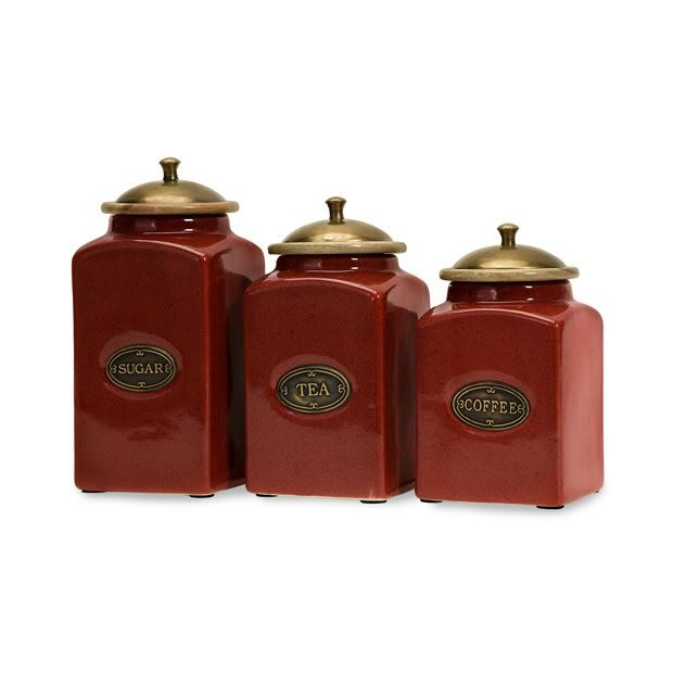 french country kitchen canisters photo - 6