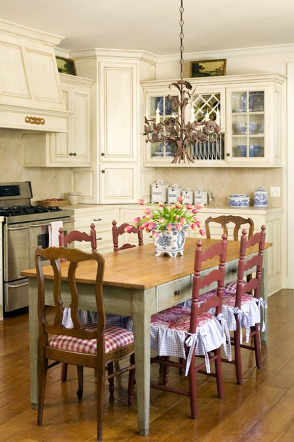 french country kitchen chairs photo - 6