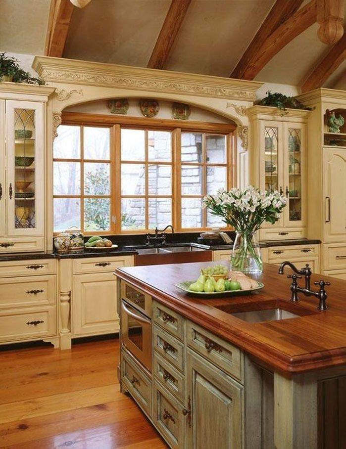 french country kitchen cupboards photo - 10