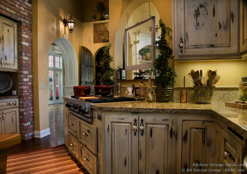 french country kitchen cupboards photo - 4