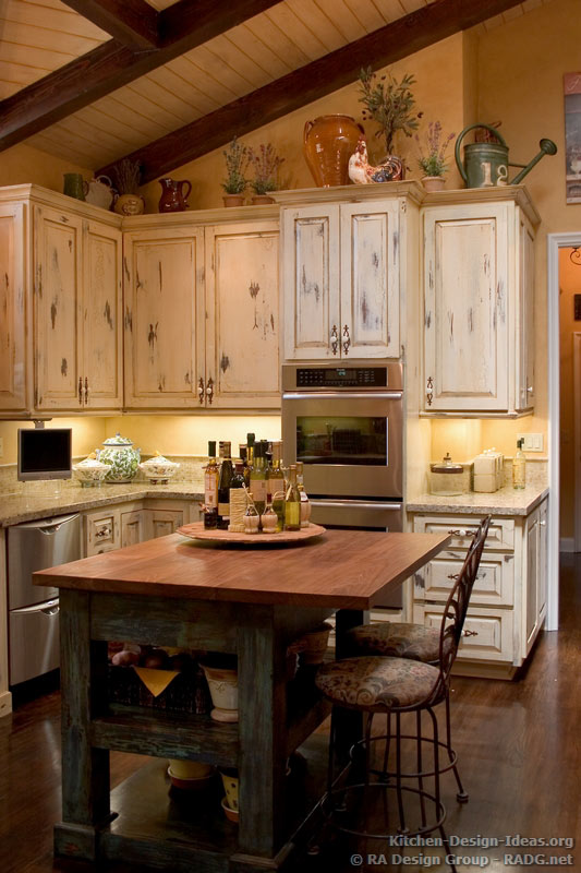french country kitchen cupboards photo - 7