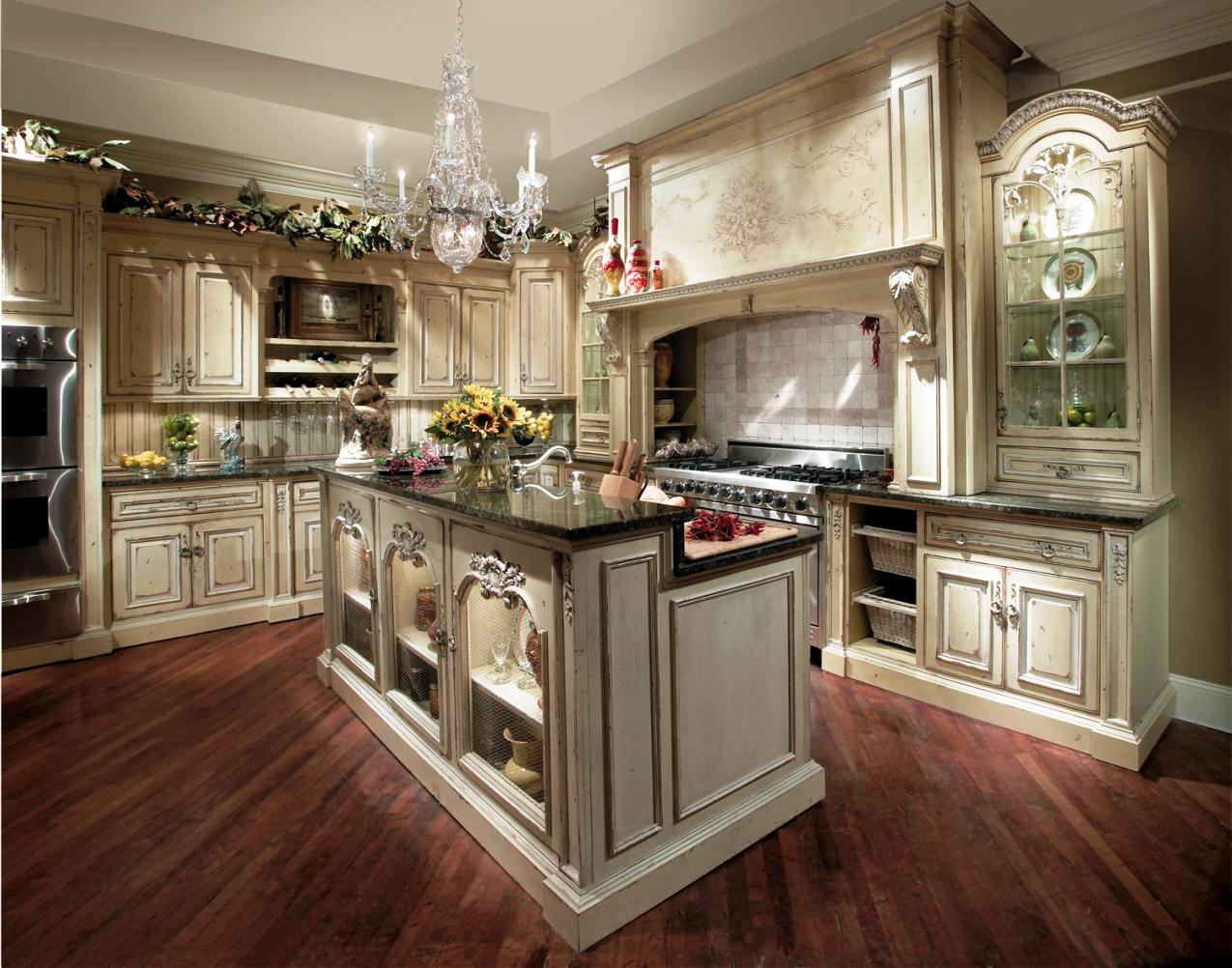 french country kitchen cupboards photo - 8