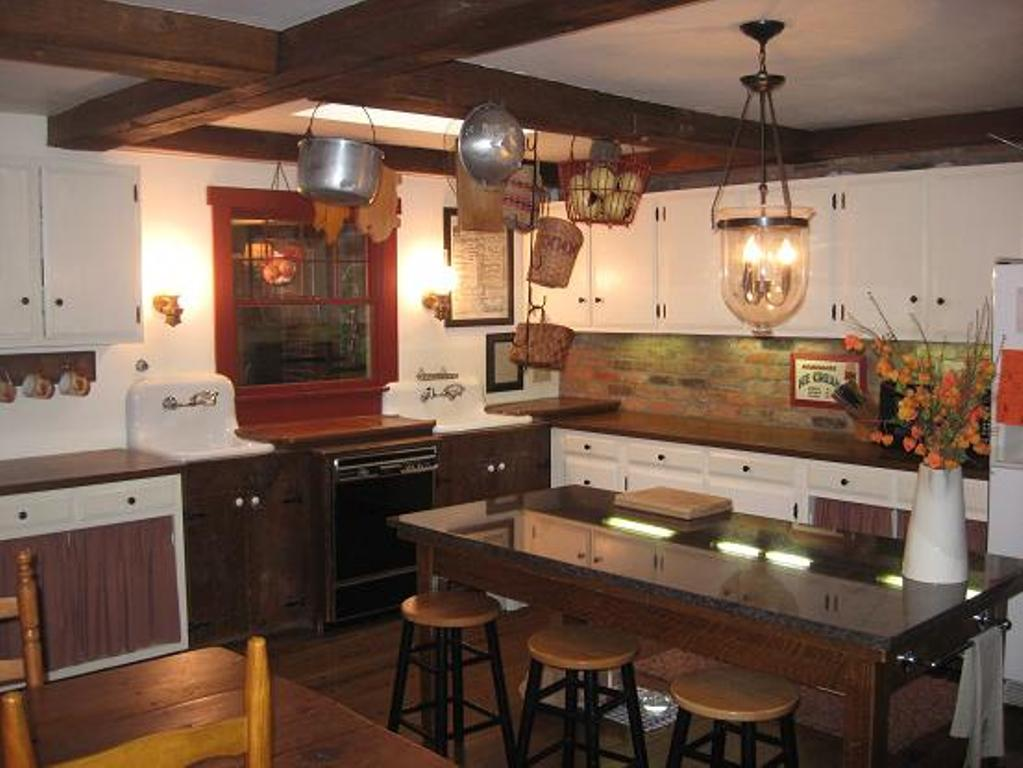 french country kitchen fixtures photo - 2
