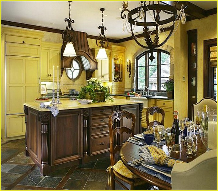 french country kitchen fixtures photo - 6