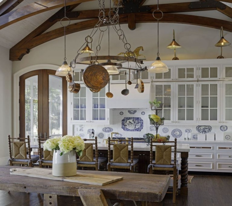 french country kitchen fixtures photo - 7