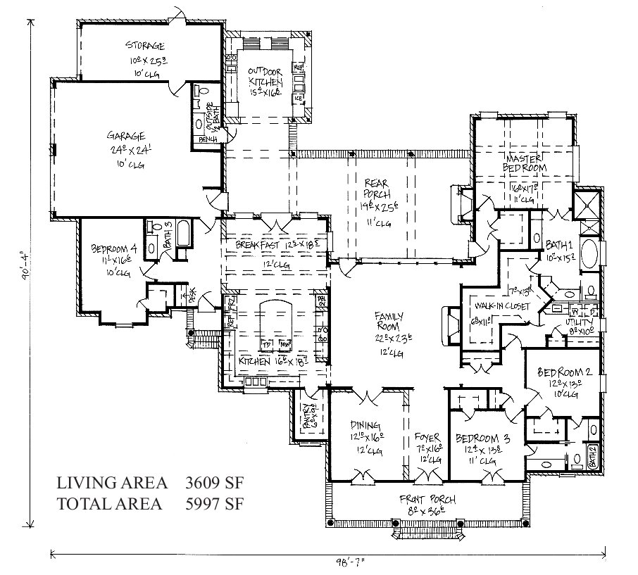 french country kitchen floor plans photo - 1