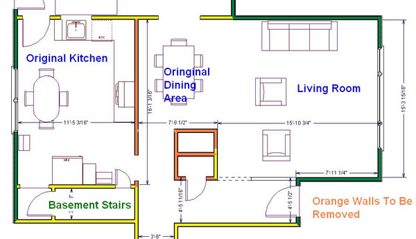 french country kitchen floor plans photo - 6